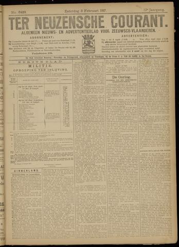 Ter Neuzensche Courant. Algemeen Nieuws- en Advertentieblad voor Zeeuwsch-Vlaanderen / Neuzensche Courant ... (idem) / (Algemeen) nieuws en advertentieblad voor Zeeuwsch-Vlaanderen 1917-02-03