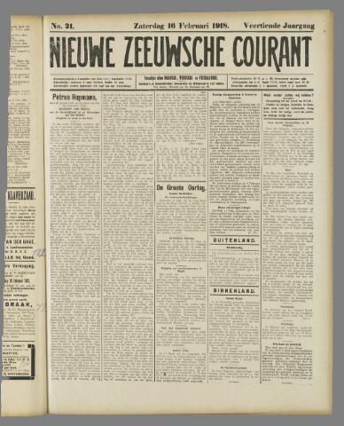 Nieuwe Zeeuwsche Courant 1918-02-16