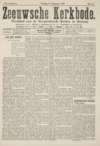 Zeeuwsche kerkbode, weekblad gewijd aan de belangen der gereformeerde kerken/ Zeeuwsch kerkblad 1916-12-15
