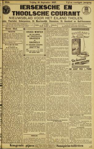 Ierseksche en Thoolsche Courant 1927-09-16