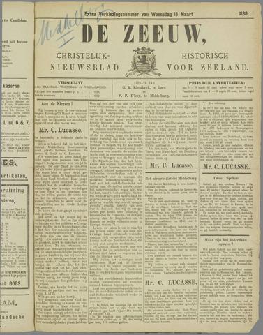 De Zeeuw. Christelijk-historisch nieuwsblad voor Zeeland 1888-03-14