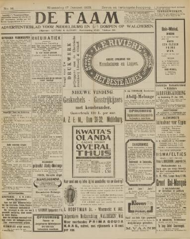 de Faam en de Faam/de Vlissinger 1923-01-17