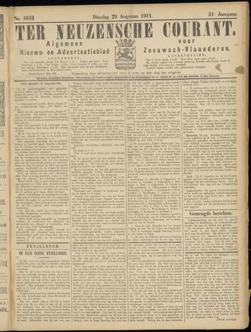 Ter Neuzensche Courant. Algemeen Nieuws- en Advertentieblad voor Zeeuwsch-Vlaanderen / Neuzensche Courant ... (idem) / (Algemeen) nieuws en advertentieblad voor Zeeuwsch-Vlaanderen 1911-08-29