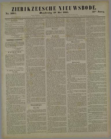 Zierikzeesche Nieuwsbode 1885-05-28