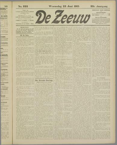 De Zeeuw. Christelijk-historisch nieuwsblad voor Zeeland 1915-06-23