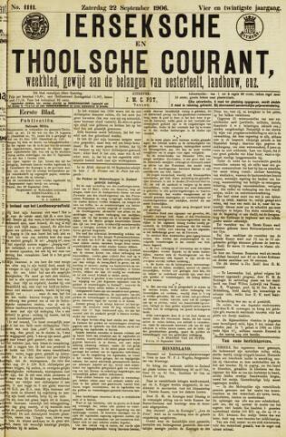 Ierseksche en Thoolsche Courant 1906-09-22
