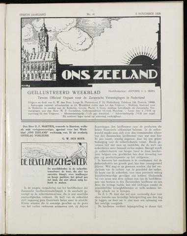 Ons Zeeland / Zeeuwsche editie 1926-11-06