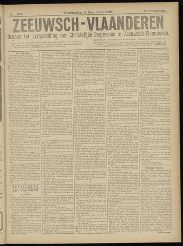 Luctor et Emergo. Antirevolutionair nieuws- en advertentieblad voor Zeeland / Zeeuwsch-Vlaanderen. Orgaan ter verspreiding van de christelijke beginselen in Zeeuwsch-Vlaanderen 1920-08-04