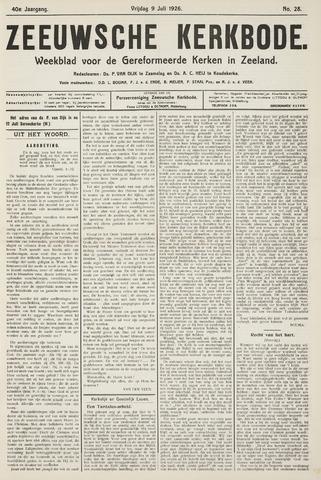 Zeeuwsche kerkbode, weekblad gewijd aan de belangen der gereformeerde kerken/ Zeeuwsch kerkblad 1926-07-09