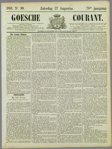 Goessche Courant 1891-08-22