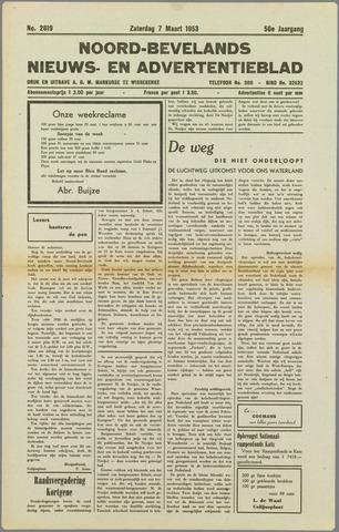 Noord-Bevelands Nieuws- en advertentieblad 1953-03-07