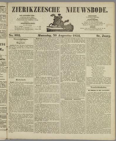 Zierikzeesche Nieuwsbode 1852-08-30