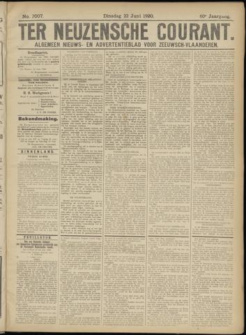 Ter Neuzensche Courant. Algemeen Nieuws- en Advertentieblad voor Zeeuwsch-Vlaanderen / Neuzensche Courant ... (idem) / (Algemeen) nieuws en advertentieblad voor Zeeuwsch-Vlaanderen 1920-06-22