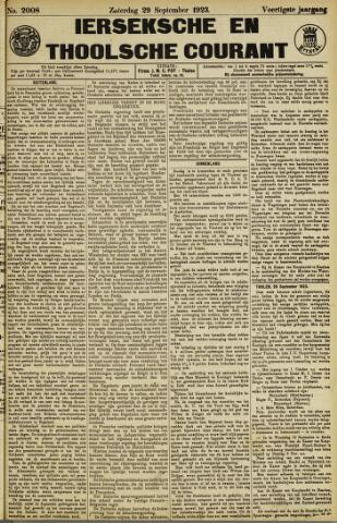 Ierseksche en Thoolsche Courant 1923-09-29