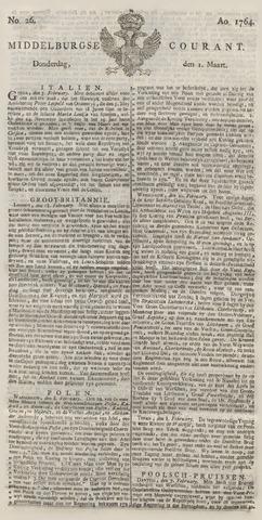 Middelburgsche Courant 1764-03-01