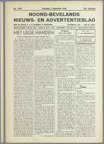 Noord-Bevelands Nieuws- en advertentieblad 1949-09-03