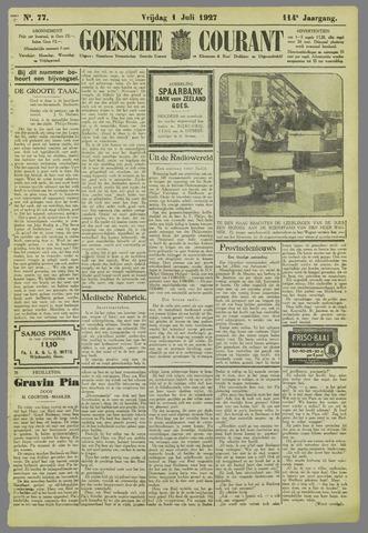 Goessche Courant 1927-07-01
