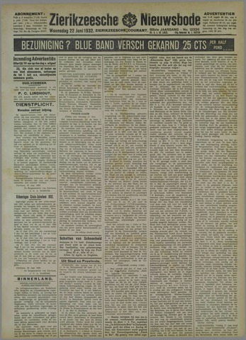 Zierikzeesche Nieuwsbode 1932-06-22