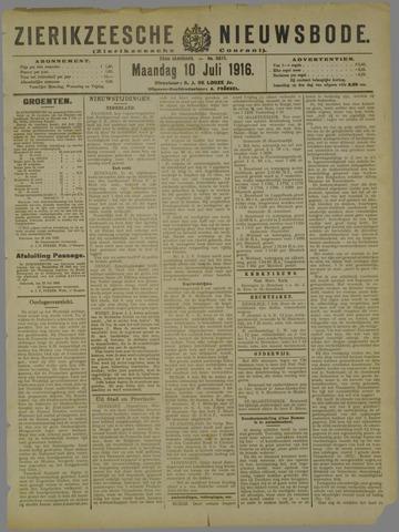 Zierikzeesche Nieuwsbode 1916-07-10