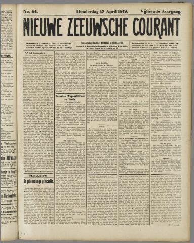 Nieuwe Zeeuwsche Courant 1919-04-17