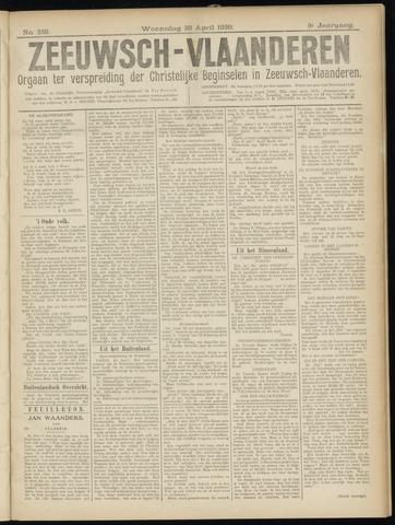Luctor et Emergo. Antirevolutionair nieuws- en advertentieblad voor Zeeland / Zeeuwsch-Vlaanderen. Orgaan ter verspreiding van de christelijke beginselen in Zeeuwsch-Vlaanderen 1920-04-28