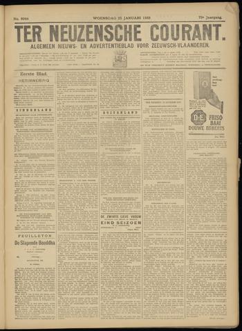 Ter Neuzensche Courant. Algemeen Nieuws- en Advertentieblad voor Zeeuwsch-Vlaanderen / Neuzensche Courant ... (idem) / (Algemeen) nieuws en advertentieblad voor Zeeuwsch-Vlaanderen 1933-01-25