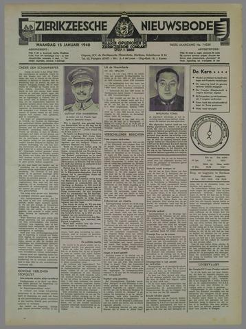 Zierikzeesche Nieuwsbode 1940-01-15