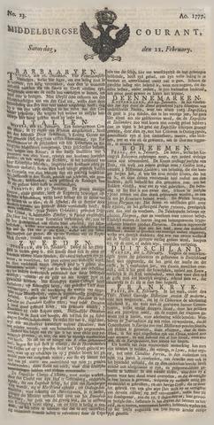Middelburgsche Courant 1777-02-22