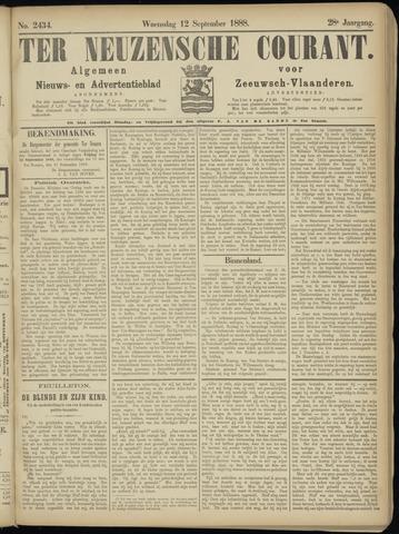 Ter Neuzensche Courant. Algemeen Nieuws- en Advertentieblad voor Zeeuwsch-Vlaanderen / Neuzensche Courant ... (idem) / (Algemeen) nieuws en advertentieblad voor Zeeuwsch-Vlaanderen 1888-09-12
