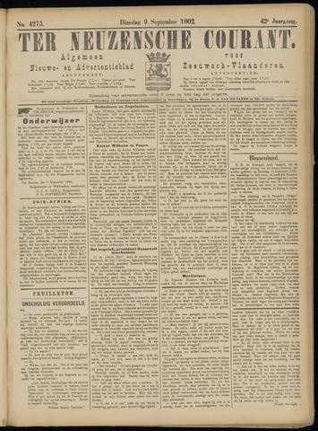 Ter Neuzensche Courant. Algemeen Nieuws- en Advertentieblad voor Zeeuwsch-Vlaanderen / Neuzensche Courant ... (idem) / (Algemeen) nieuws en advertentieblad voor Zeeuwsch-Vlaanderen 1902-09-09