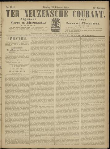 Ter Neuzensche Courant. Algemeen Nieuws- en Advertentieblad voor Zeeuwsch-Vlaanderen / Neuzensche Courant ... (idem) / (Algemeen) nieuws en advertentieblad voor Zeeuwsch-Vlaanderen 1895-02-26
