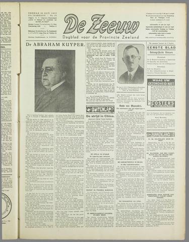 De Zeeuw. Christelijk-historisch nieuwsblad voor Zeeland 1937-10-29