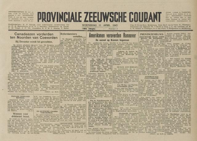 Provinciale Zeeuwse Courant 1945-04-11