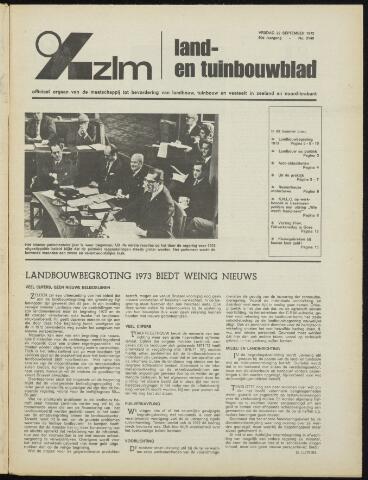Zeeuwsch landbouwblad ... ZLM land- en tuinbouwblad 1972-09-22