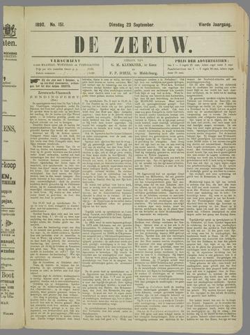 De Zeeuw. Christelijk-historisch nieuwsblad voor Zeeland 1890-09-23