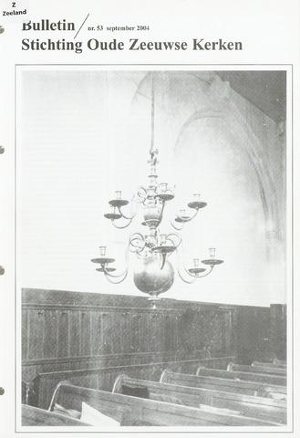 Bulletin Stichting Oude Zeeuwse kerken 2004-09-01
