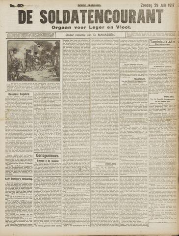 De Soldatencourant. Orgaan voor Leger en Vloot 1917-07-29