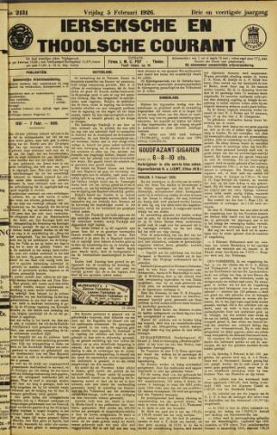 Ierseksche en Thoolsche Courant 1926-02-05