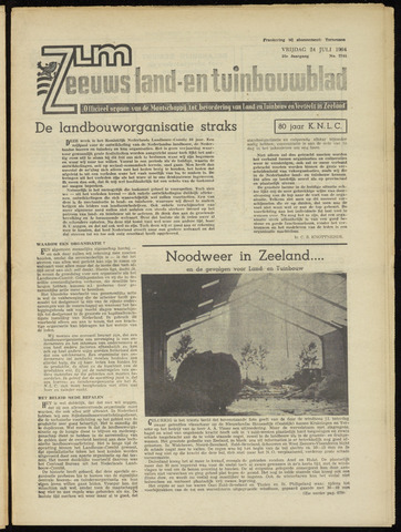 Zeeuwsch landbouwblad ... ZLM land- en tuinbouwblad 1964-07-24