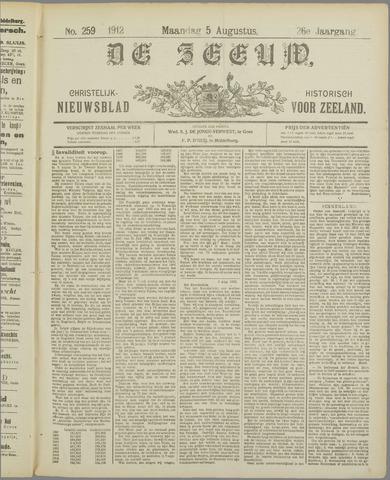 De Zeeuw. Christelijk-historisch nieuwsblad voor Zeeland 1912-08-05