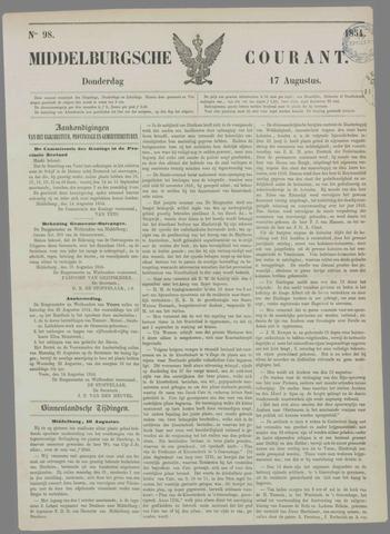 Middelburgsche Courant 1854-08-17