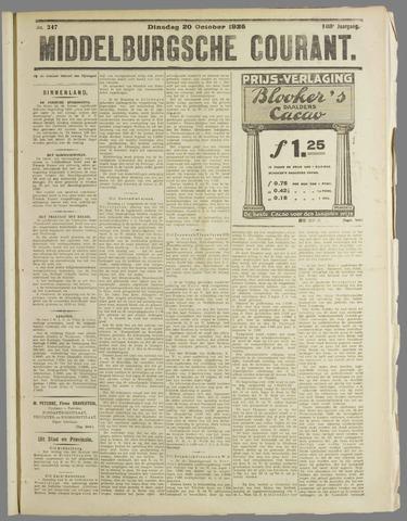 Middelburgsche Courant 1925-10-20