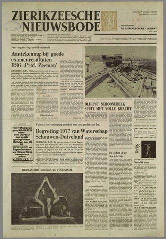 Zierikzeesche Nieuwsbode 1976-11-09
