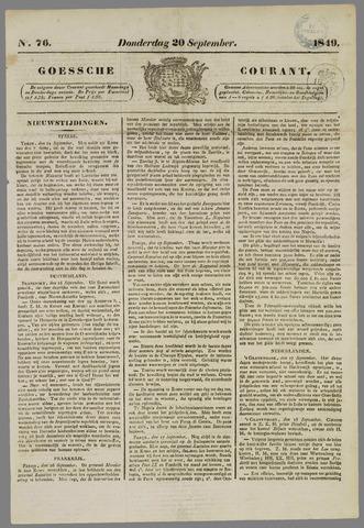 Goessche Courant 1849-09-20