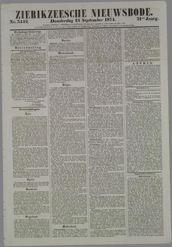 Zierikzeesche Nieuwsbode 1874-09-24