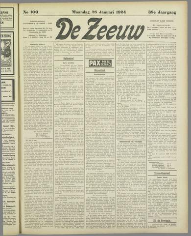De Zeeuw. Christelijk-historisch nieuwsblad voor Zeeland 1924-01-28