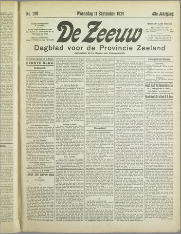 De Zeeuw. Christelijk-historisch nieuwsblad voor Zeeland 1929-09-11