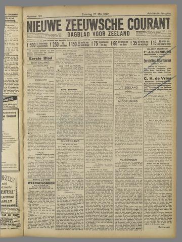 Nieuwe Zeeuwsche Courant 1922-05-27