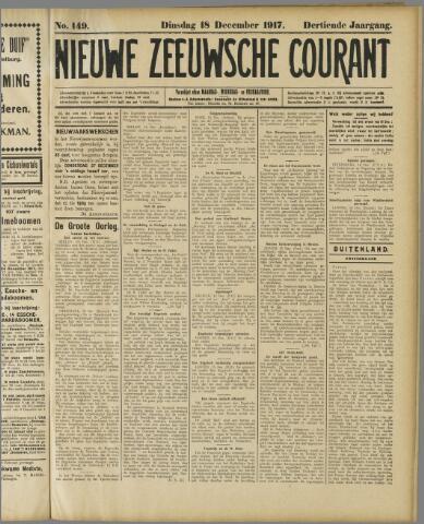 Nieuwe Zeeuwsche Courant 1917-12-18