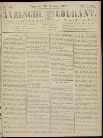 Axelsche Courant 1918-10-26